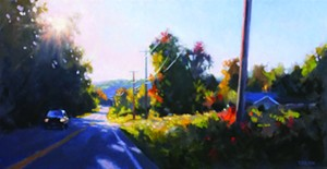 "COURTESY OF EDGEWATER GALLERY - ""Early Autumn Road"" by Timothy Horn"