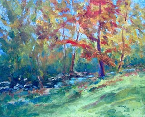"""Fall Colors"" by Janet Bonneau - Uploaded by T. W. Wood Gallery"