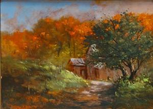 "COURTESY OF NORTHEAST KINGDOM ARTISANS GUILD - ""Autumn on Morrison Farm"" by Rodney Reis"