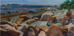 "COURTESY OF VERMONT SUPREME COURT GALLERY - ""Flye Point"" by Diane Fitch"