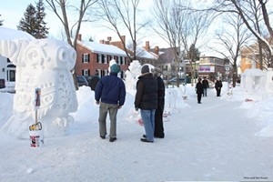Snow sculpting - Uploaded by Pentangle Info