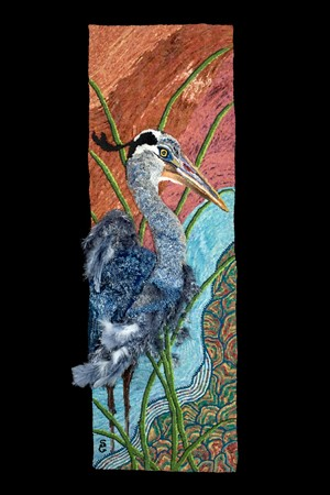 """Bucky the Blue Heron"" by Sandra Grant - Uploaded by Valleyartsvt"