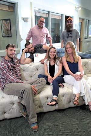 Clockwise from left: Kyle Clark, Aaron Pollak, Nathaniel White-Joyal, Charles Sprayberry, Kim Brearley, Christa Ferrari - MATTHEW THORSEN