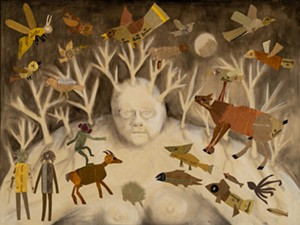 """COURTESY OF VERMONT STATE CURATOR - """"The Beginning"""" by Janet Van Fleet"""