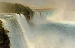 Detail of painting by Frederic Church - Uploaded by Vermont Humanities
