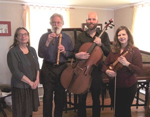 Living Woods Ensemble: Lynnette Combs, Werner John, Michael Close, and Elizabeth Reid - Uploaded by Liz Reid McQuillan