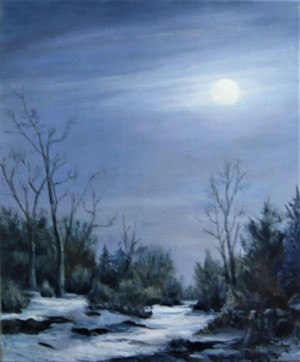 """COURTESY OF EMILE A. GRUPPE GALLERY - """"Midnight in Vermont"""" by Jane Morgan"""