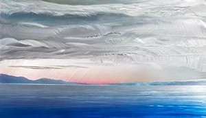 """COURTESY OF EDGEWATER GALLERY - """"Thompson's Point at Sunset"""" by Homer Wells"""