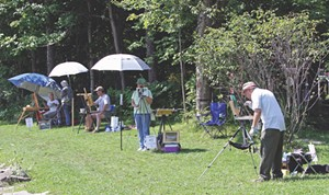 Plein air paint day - Uploaded by Valleyartsvt