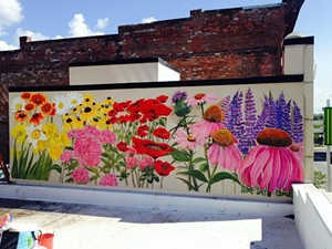 COURTESY OF KATHRYN WIEGERS - Photograph of a mural by Kathryn Wiegers