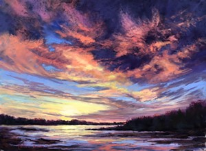 """COURTESY OF T.W. WOOD GALLERY - """"Sunrise From Cape Porpoise"""" by Patti Braun"""