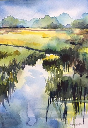 "COURTESY OF TUNBRIDGE PUBLIC LIBRARY - ""Salt Marsh, Seabrook Island"" by Kathy Fiske"