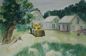 "COURTESY OF WATERBURY PUBLIC LIBRARY - ""Joslin's Farm"" by Mimi Clark"