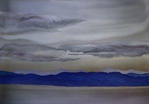 """COURTESY OF EDGEWATER GALLERY - """"View From Mt. Philo,"""" etched aluminum by Homer Wells"""