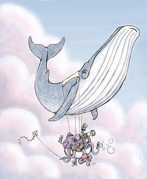 "COURTESY OF NVU - ""Whale Balloon,"" digital print by Barclay Tucker"