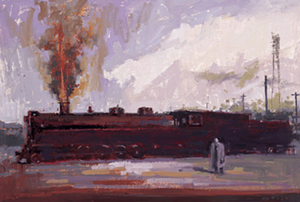 "COURTESY OF BRATTLEBORO MUSEUM & ART CENTER - ""Train Man"" by William Wray"