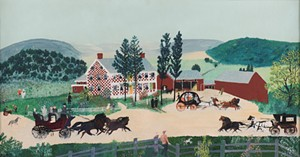 """COURTESY OF THE SHELBURNE MUSEUM - """"After the Wedding"""" by Grandma Moses, aka Anna Mary Robertson"""