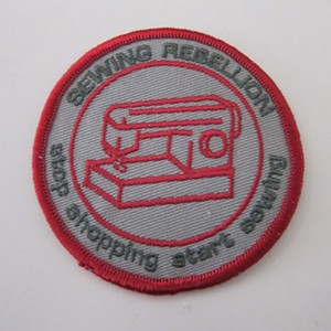 """COURTESY OF HELEN DAY ART CENTER - """"Sewing Rebellion"""" patch by Frau Fiber"""