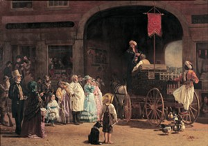 """COURTESY OF T.W. WOOD GALLERY - """"The Quack Doctor"""" by Thomas Waterman Wood"""