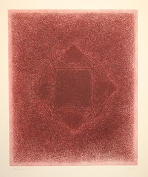 "COURTESY OF BENNINGTON MUSEUM - ""Yantra II,"" print by Vincent Longo"