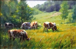 """COURTESY OF EDGEWATER GALLERY - """"Early Summer Grazing"""" by Joe Bolger"""