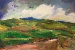 "COURTESY OF BRYAN MEMORIAL GALLERY - ""Southbound View, Camel's Hump"" by Julie Davis"