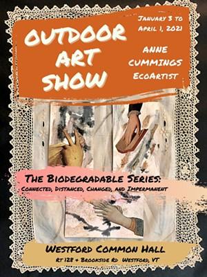 "Poster depicting art by Anne Cummings, ""Words and Gestures"" - Uploaded by Anne Cummings EcoArtist"