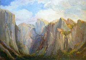 "COURTESY OF TUNBRIDGE PUBLIC LIBRARY - ""Yosemite,"" oil painting by Joan Hoffman"