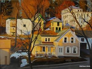 """COURTESY OF EDGEWATER GALLERY - """"Neighborhood"""" by Kathleen Kolb"""