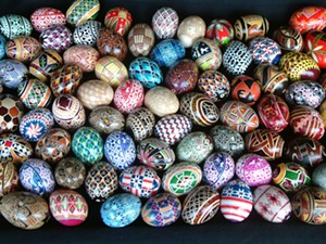 COURTESY OF FROG HOLLOW - Ukrainian decorated eggs