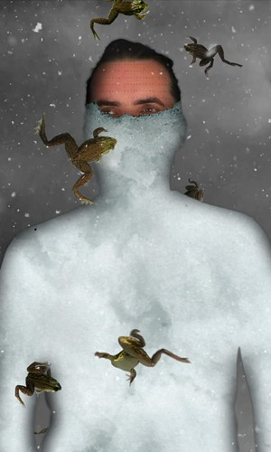 Portrait of Atmospheric Scientist, Animation (snow, frogs, bone and mermaid), variable dimensions, silent, 2018. Image by Lisa Crafts - Uploaded by Sumru Tekin