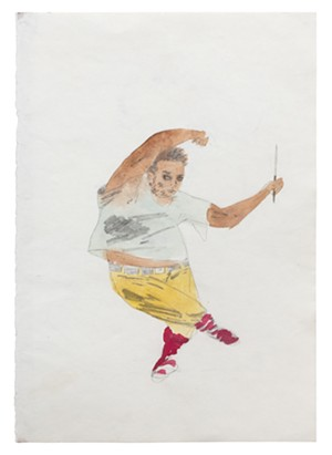 """COURTESY OF THE ARTIST AND CHARLES MOFFETT GALLERY, NEW YORK - """"Knife Dancer"""" by Kenny Rivero"""