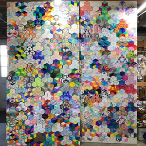 """COURTESY OF MONTPELIER ALIVE - """"Tumbling Blocks Quilt"""" by members of the Montpelier community"""