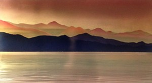 """COURTESY OF EDGEWATER GALLERY - """"Mary's Golden Dream"""" by Homer G. Wells"""