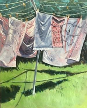 "COURTESY OF COMMUNITY ARTS CENTER & GALLERY - ""More Laundry"" by Lynn VanNatta"