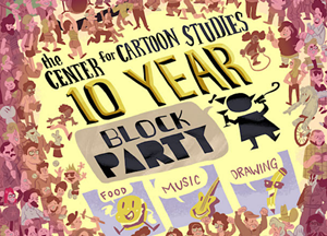 COURTESY OF THE CENTER FOR CARTOON STUDIES - Block party poster by Kaz Lee