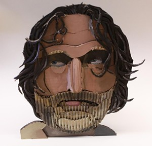 "COURTESY OF THE HYDE COLLECTION - ""RICK,"" mixed media by James Morrison"