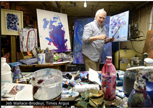 Arthur Zorn in his studio - Uploaded by Arthur Zorn