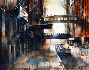 """""""West 15th Street"""" by Tim Saternow - Uploaded by Mad River Valley Arts"""