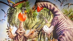 COURTESY OF MONTSHIRE MUSEUM - Detail of installation in Summer of Dinosaurs