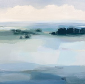 """COURTESY OF EDGEWATER GALLERY - """"The Lake Beyond"""" by Hannah Bureau"""