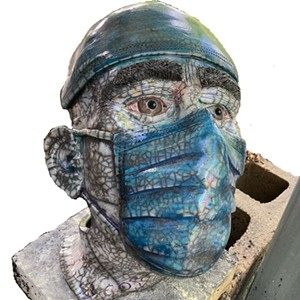 """COURTESY OF GRAND ISLE ART WORKS - """"Health Care Worker"""" sculpture by Sherry Corbin"""