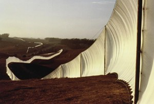 "COURTESY OF THE HYDE COLLECTION - ""Running Fence, Sonoma and Marin Counties, California"" by Christo and Jeanne-Claude"