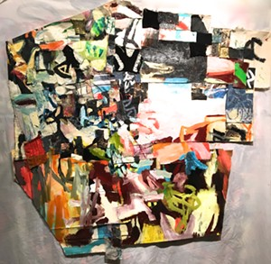 "COURTESY OF CHANDLER GALLERY - ""Over the Cliff,"" mixed media by Galen Cheney"