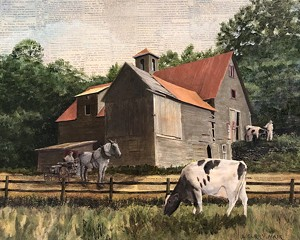 COURTESY OF THE INN AT WEATHERSFIELD - Painting by Lisa Curry Mair