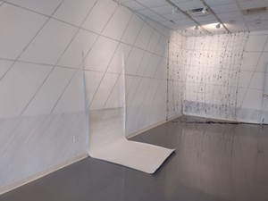 """COURTESY OF BRIAN COLLIER - Installation view of """"Migrating Landscapes"""""""