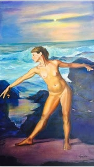 "COURTESY OF WHITE RIVER GALLERY - ""Figure and Landscape, Arcadia"" by Larry Golden"
