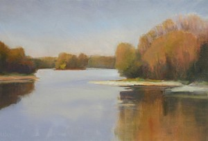 "COURTESY OF FISK FARM ART CENTER - ""Another Look,' oil painting by Susan Larkin"