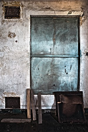"""COURTESY OF BRATTLEBORO MUSEUM & ART CENTER - """"Wall Detail. Contagious Disease Ward,"""" photograph by Philip J. Calabria"""