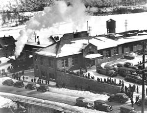 "COURTESY OF HAROLD A. BARRY - The ""Ski Train"" at Brattleboro's Union Station, circa 1935"
